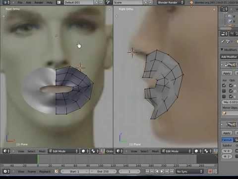 Blender 3d tutorial beginners face modeling with plane mesh by blender 3d tutorial beginners face modeling with plane mesh by vscorpianc malvernweather Images