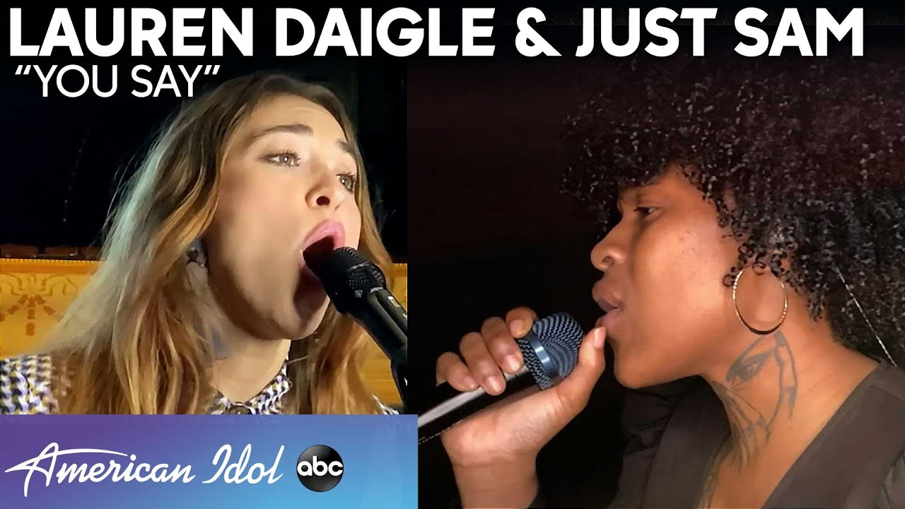"""Watch Lauren Daigle's Inspiring Performance of """"You Say"""" with Just Sam on the American Idol Finale!"""