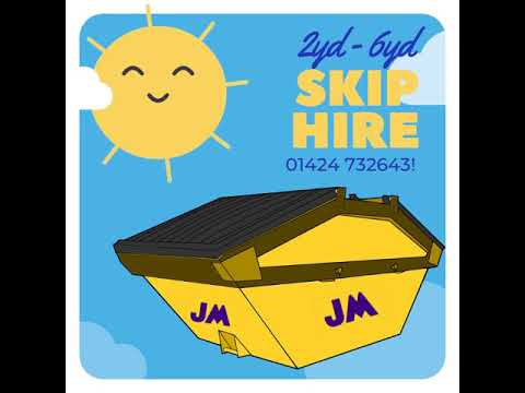 2yd  - 6yd Skip Hire Hastings, Bexhill , Eastbourne & Brighton - JM Waste Management