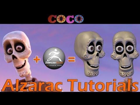 Tutorial de modelado en Zbrushcore : Calavera de Pixar COCO
