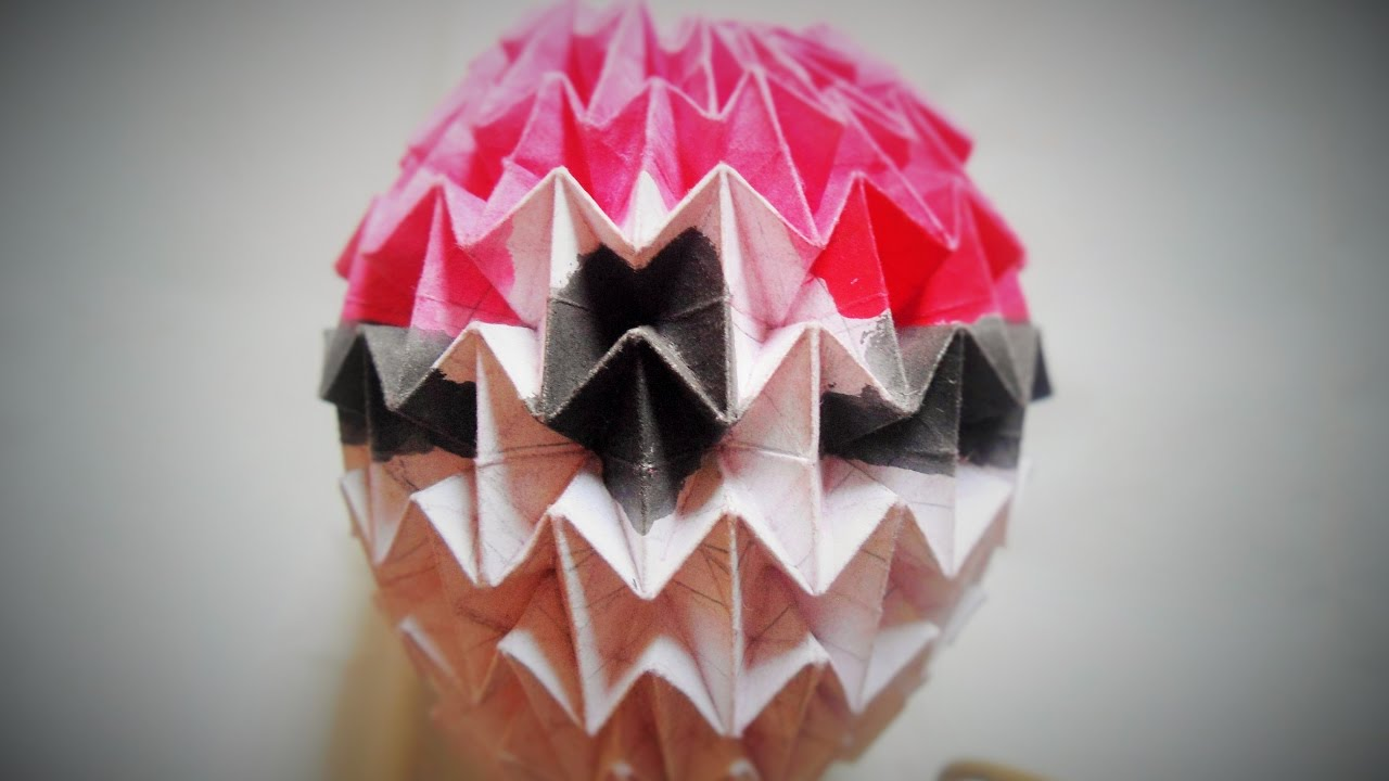 Origami Magic Ball Pocket Monster Pokemon Step By