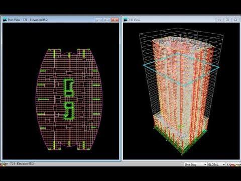 02 Structural Design course of 30 storey high rise building (Parking DXF) م ايمن الزهيرى