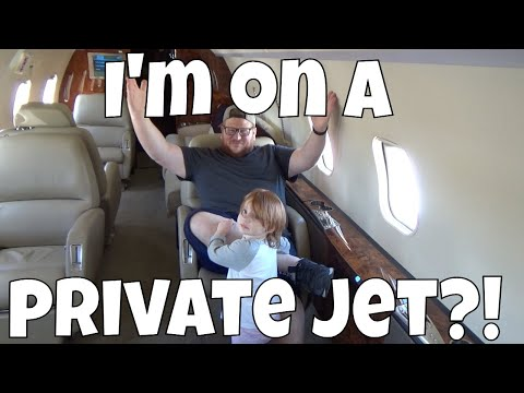 I Was On a Private Jet!!!