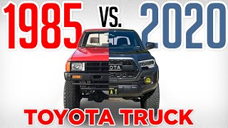 1985 Toyota Pickup vs 2020 Tacoma TRD Off Road Comparison/Review