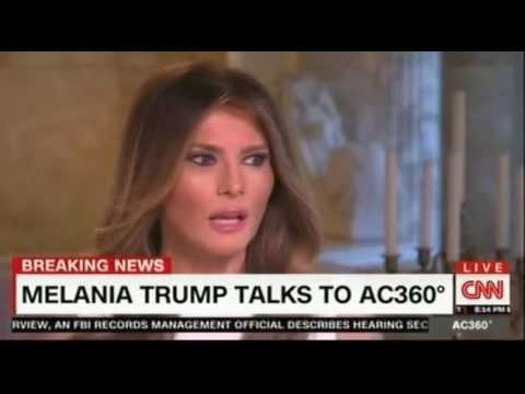 CNN Anderson Cooper interview with Melania Trump FULL including Panel discussion