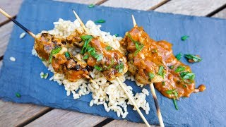 Quick Chicken Satay | SAM THE COOKING GUY