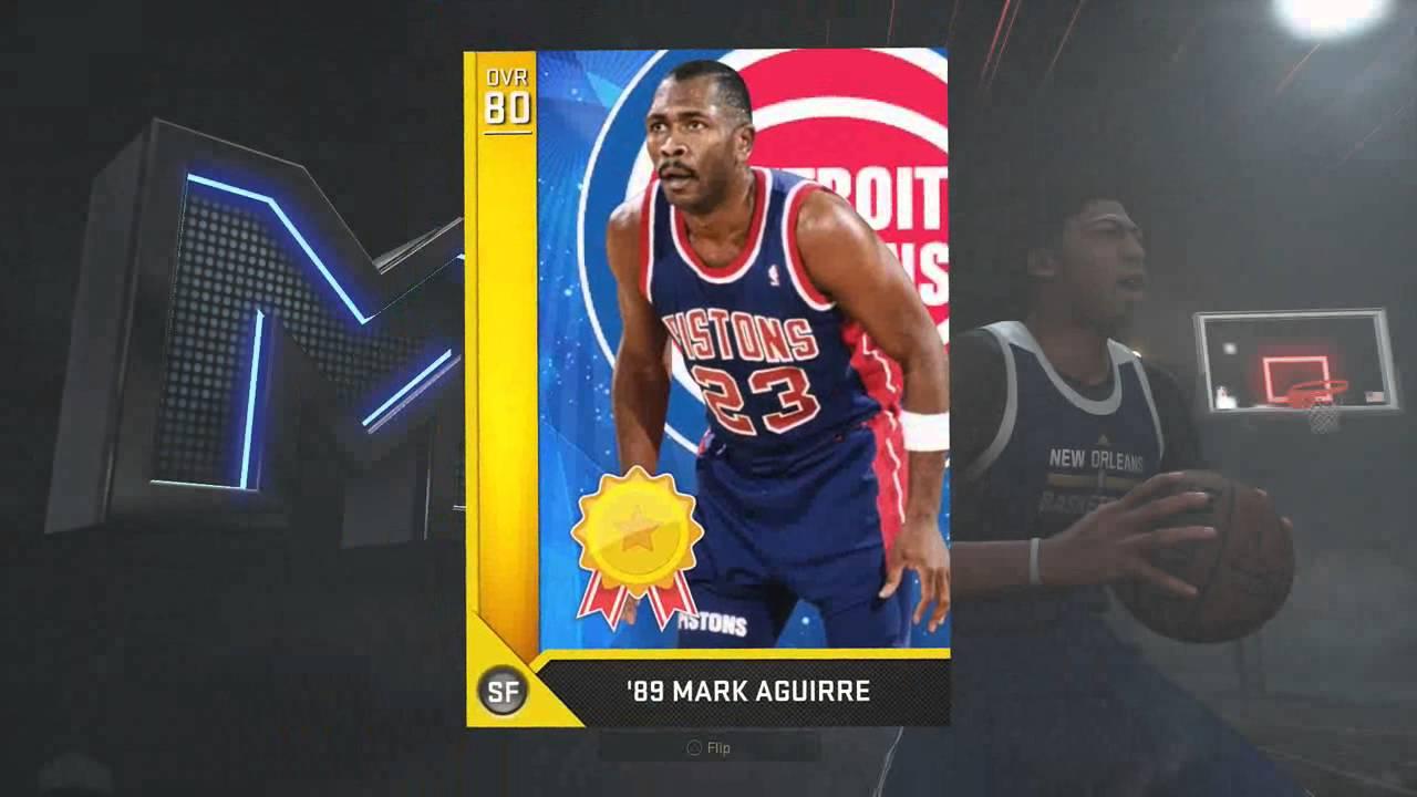 NBA 2k16 MyTeam 89 Mark Aguirre Stats