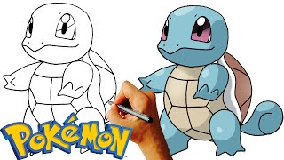 How to Draw Squirtle (Pokemon) Step by Step Drawing Lesson