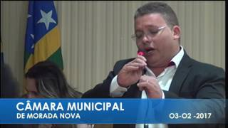 Sandrinho Saraiva PRONUNCIAMENTO  03 02 2017