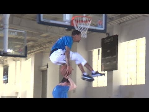 Guy Dupuy WILL NOT STOP trying this DUNK!  Makes DUNK after MANY Tries