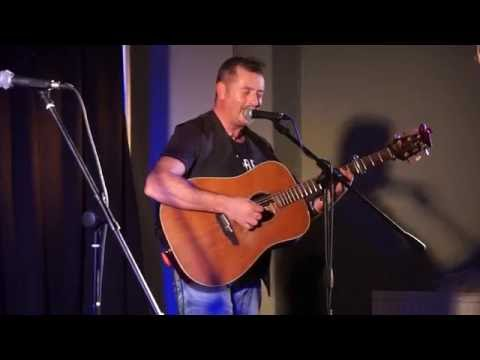 Pat Collins singing at The London Irish Centre during the Sean Keane Concert