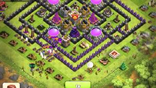 Clash of clans - the power of a maxed wizard tower