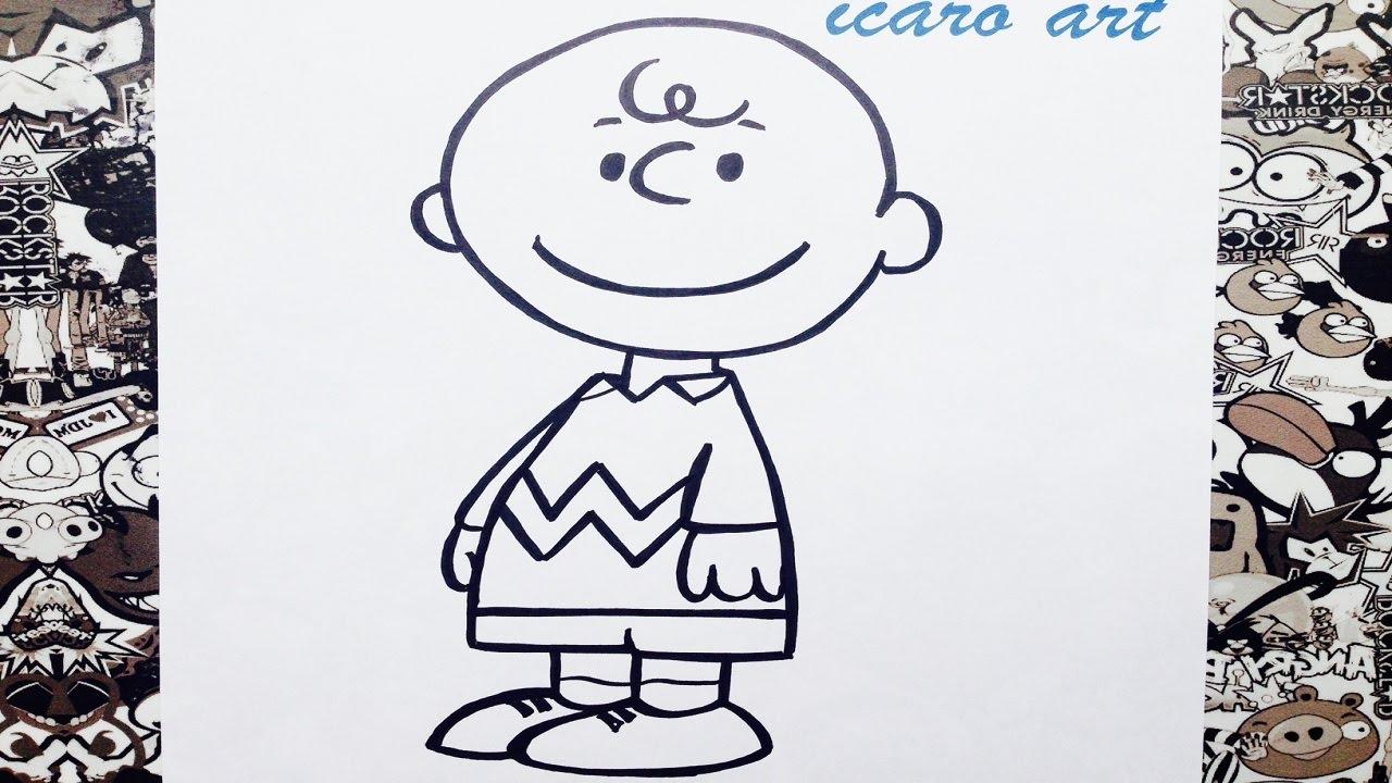 Como dibujar a charlie Brown de snoopy   how to draw charlie brown ...