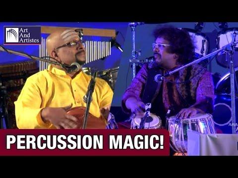Percussion Ensemble | Bickram Ghosh Tabla | V Suresh Ghatam | Fusion | Idea Jalsa | Art And Artistes