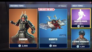 FORTNITE - DAILY ITEM SHOP RESET - NOUVEAU SHOGUN SKIN ET PICK AXE - 17/11/18