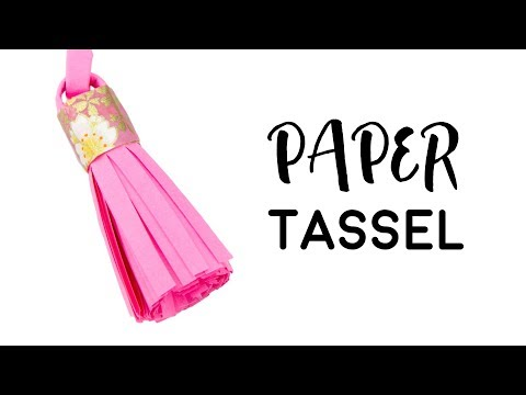 DIY Paper Tassel Tutorial - Paper Craft - Paper Kawaii