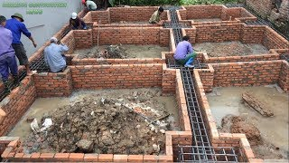 How To Build A New Style Foundation - Build A Foundation Using Ready-Mixed Concrete For The House