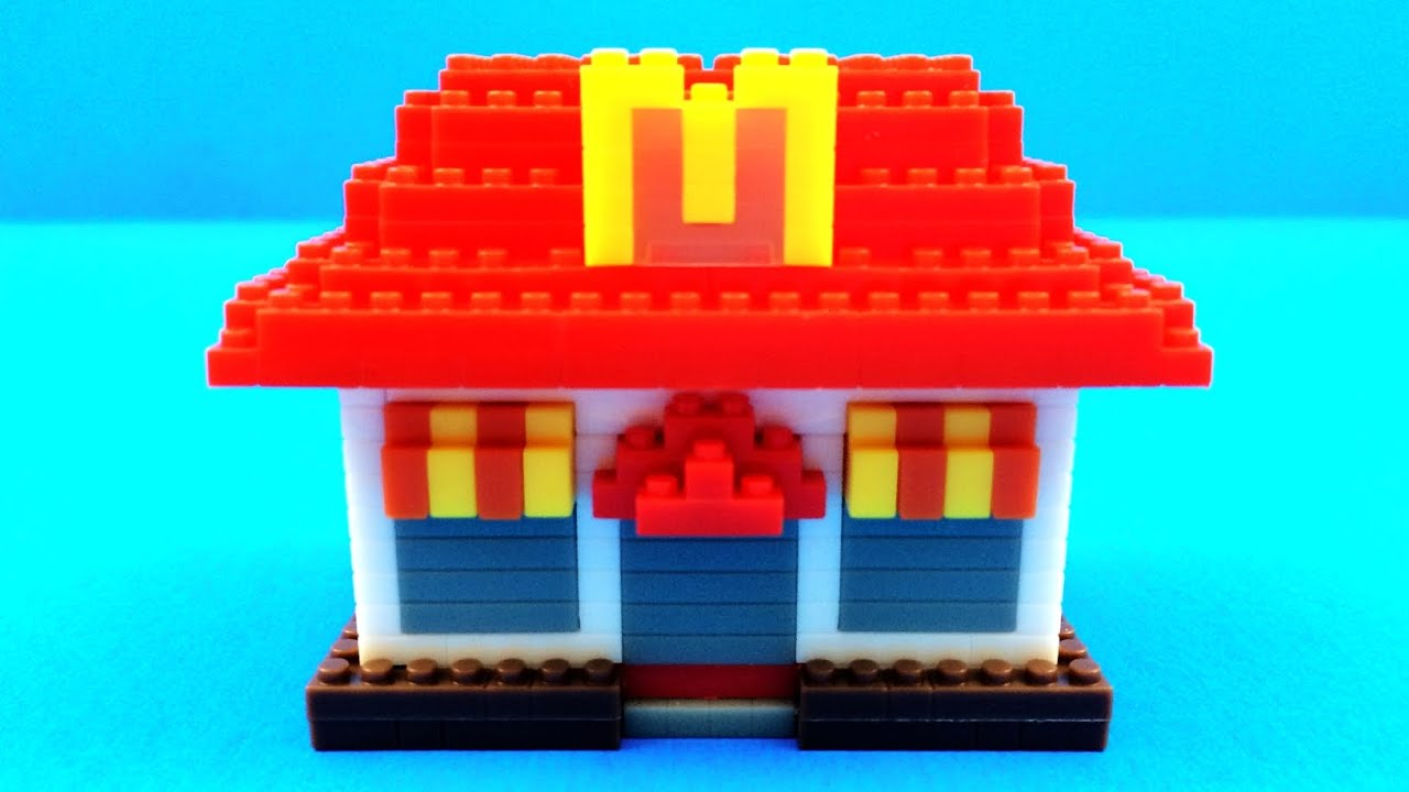 Lego Toy Food : Mcdonald s restaurant lego food icons
