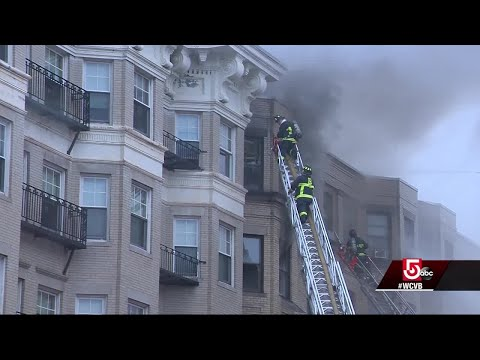 7-alarm fire guts Boston apartment building