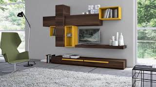 Modern Tv Wall Units - Wall decoration with TV ➤ Modern Living room ➤ Interior design 2019