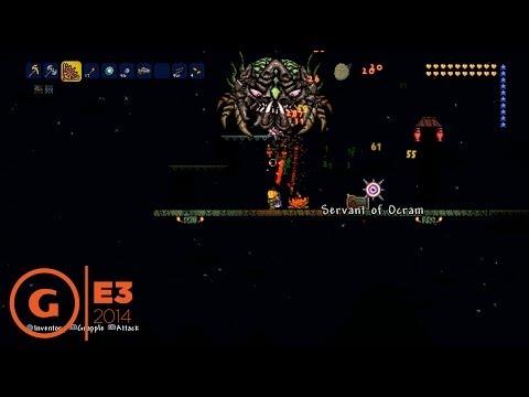 Terraria Ocram Boss Fight Gameplay - E3 2014