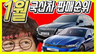 국산차 1월 실적…현대차 판매 28.3% 하락? K5,…