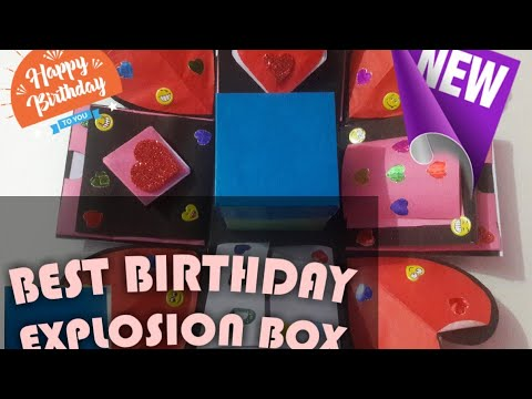 Gift idea/Explosion box for friend/ Surprize box/ Handmade Explosion box
