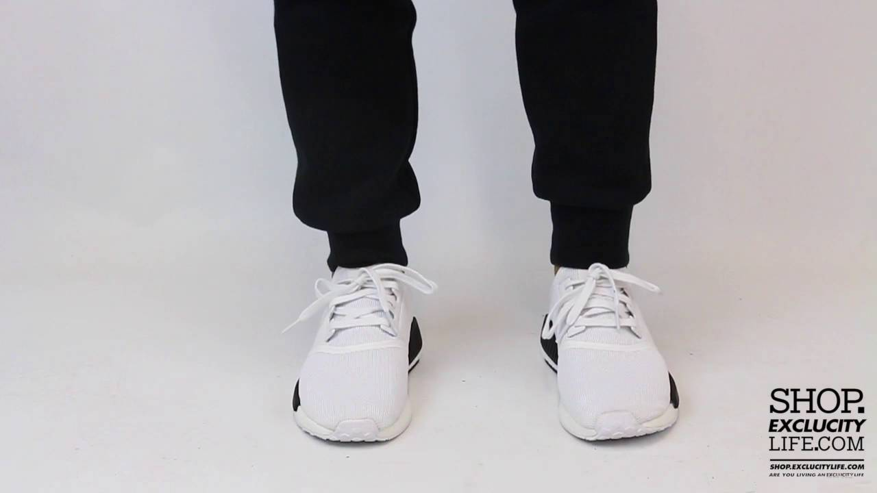 buy popular 97f0b 7e95f Adidas NMD R1 White Black On feet Video at Exclucity