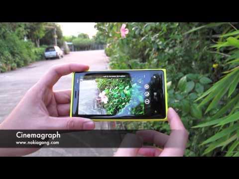 สาธิตการใช้งาน Cinemagraph บน Nokia Lumia 920