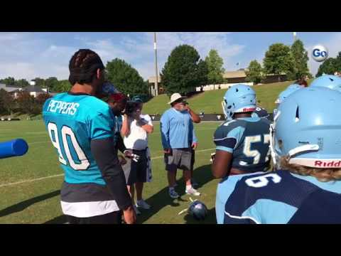 VIDEO: Julius Peppers and Charles Johnson with Dorman players.