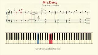 "How To Play Piano: Pride and prejudice ""Mrs. Darcy"" Piano Tutorial by Ramin Yousefi"