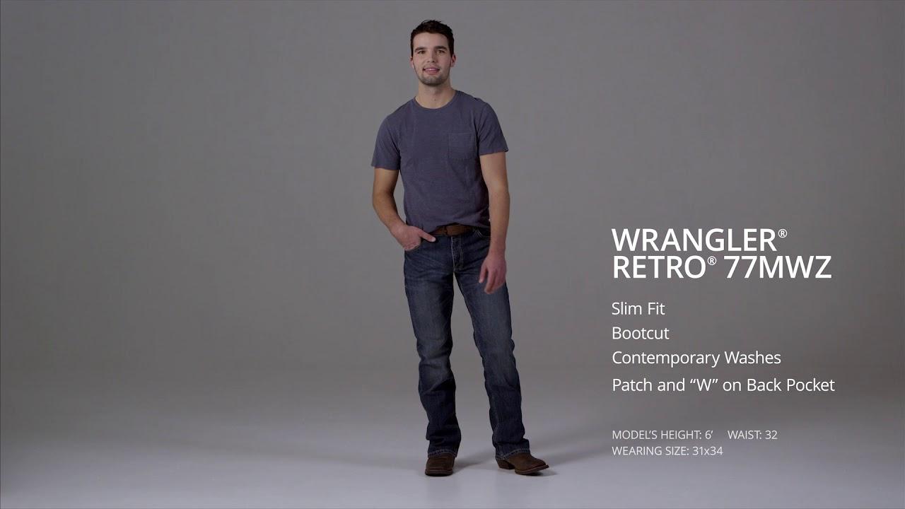 7c99860b Men's Wrangler Retro® Slim Fit Bootcut Jean Mens Jeans by Wr - YouTube