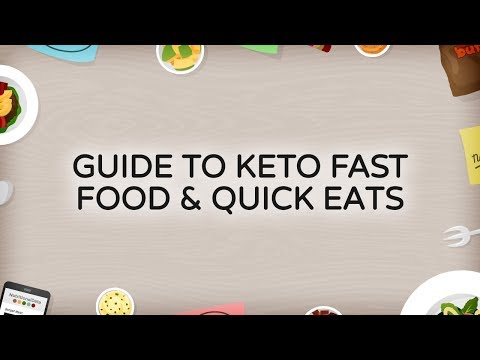 Keto and Fast Food/Quick Eats