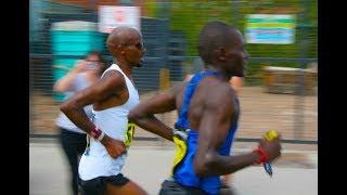 Mo Farah wins Great Manchester Run ahead of Moses Kipsiro