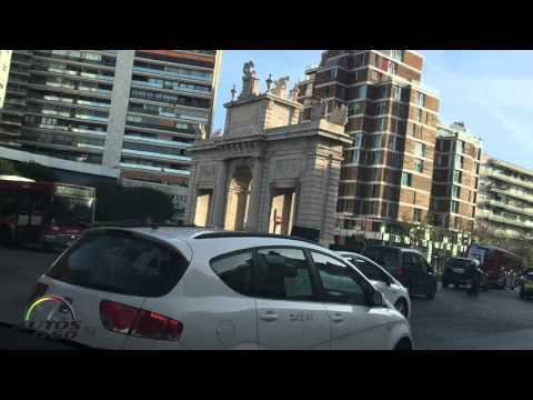 Valencia, España, landing and first drive around the City