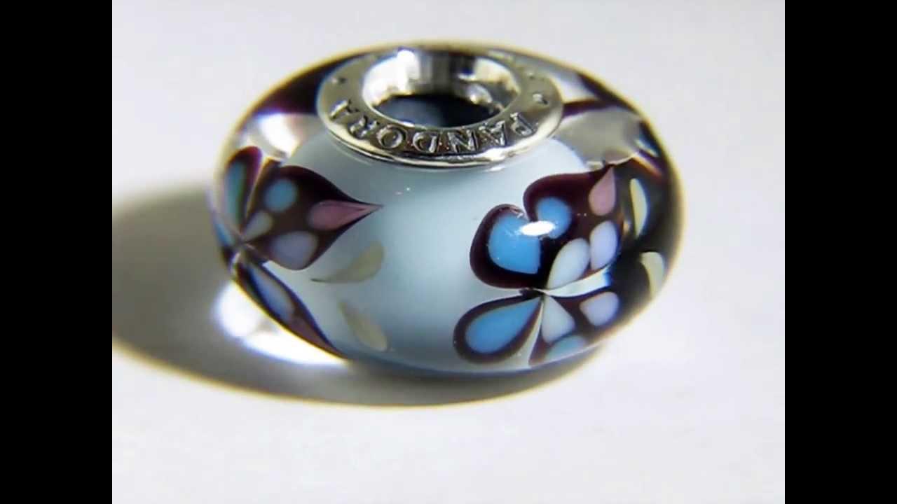 Pandora blue butterfly kiss murano glass charm 791622 youtube pandora blue butterfly kiss murano glass charm 791622 izmirmasajfo