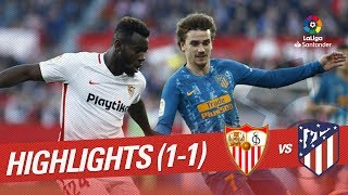Highlights Sevilla FC vs Atletico de Madrid (1-1)