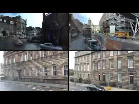Schottland Scotland: Stadtrundfahrt durch Edinburgh. City Tour of Edinburgh - Bus tour