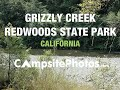 Grizzly Creek Redwoods State Park, California Campsite Photos