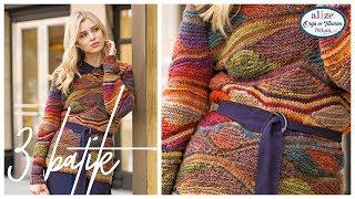 3 Farklı Batik ile Kazak Yapımı  -  3 Of Batik Together By Water Weave Knitting Technique