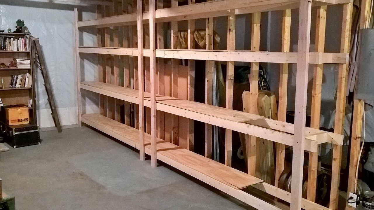 how to make cheap storage shelves