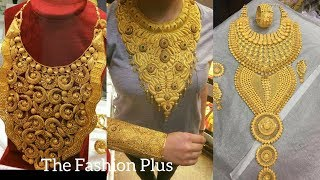 New Saudi Gold Bridal Necklaces Designs