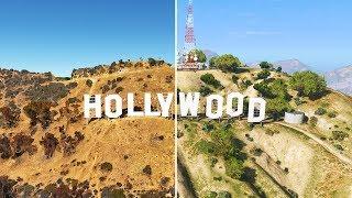 GTA 5 vs GOOGLE Earth #1 | LOS SANTOS and LOS ANGELES Comparison