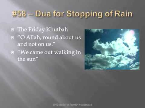 miracle 058100 prophet muhammad dua for stopping of