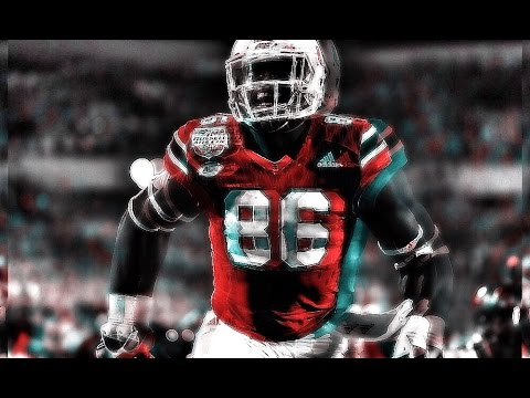 David Njoku Highlights || Miami Hurricane Tight End ||