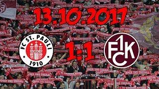 FC St. Pauli 1:1 1. FC Kaiserslautern - 13.10.2017 - Punkteteilung im Kiez