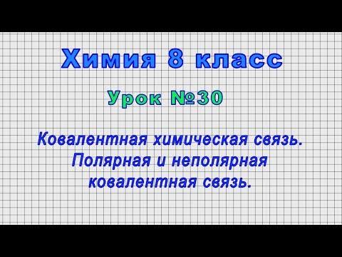 Видеоурок по химии 8 класс химические связи