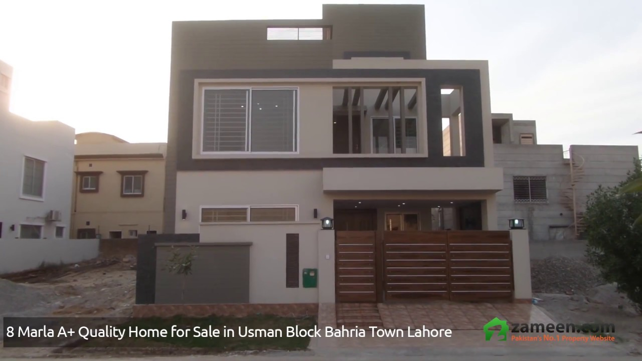 8 Marla House Is Available For Sale In Bahria Town Usman Block Lahore Youtube