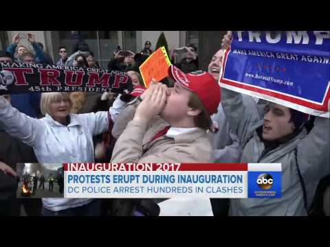 Inauguration Met With Protests by Thousands in Washington, Around US