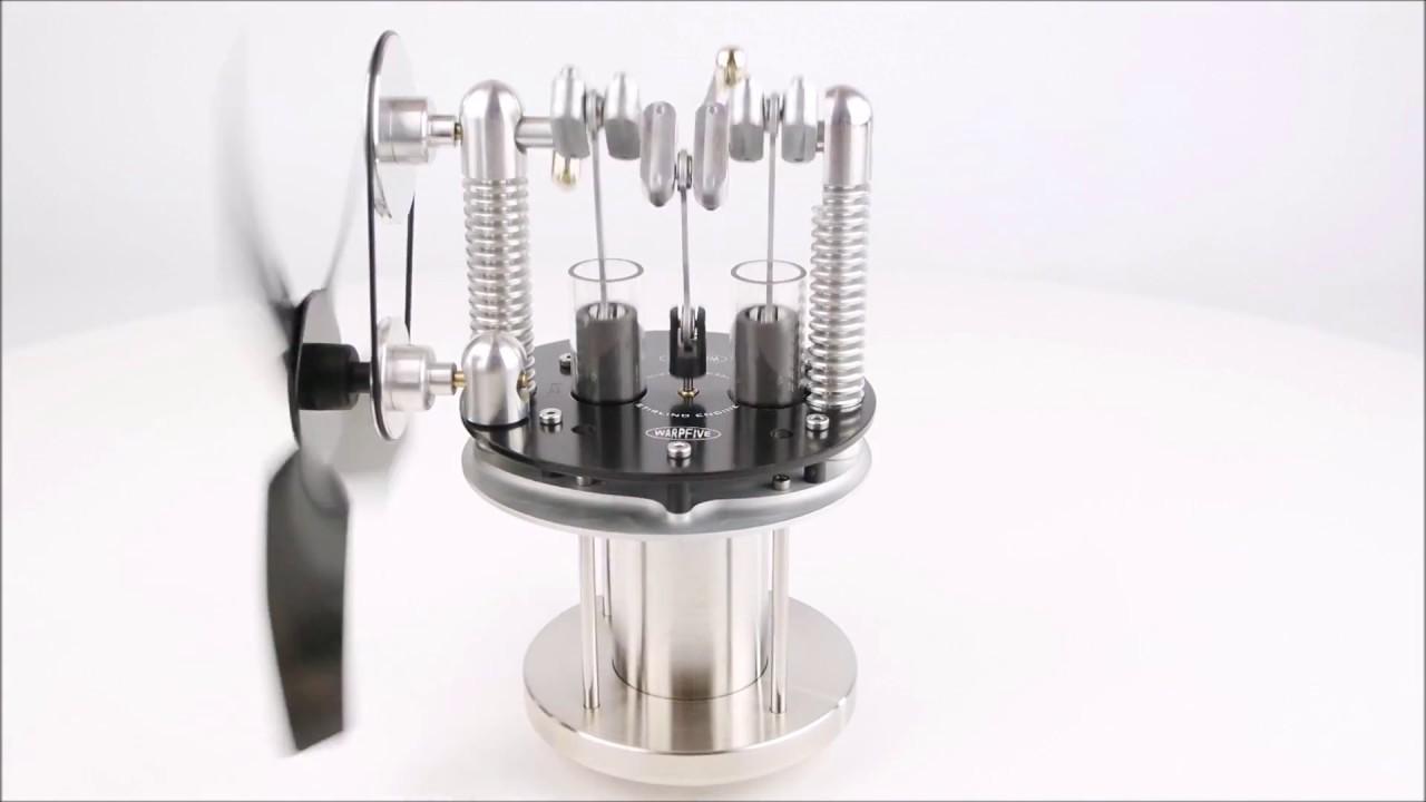 warpfive twinspeed stove fan heat powered stirling engine youtube